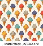 Vintage Ice Cream Pattern