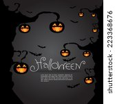 halloween background  vector... | Shutterstock .eps vector #223368676