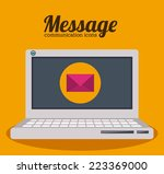 Email Design Over White...