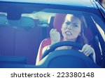 portrait displeased angry... | Shutterstock . vector #223380148