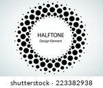 Black Abstract Halftone Logo...