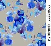 decorative flower seamless... | Shutterstock . vector #223388938
