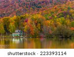 Постер, плакат: Autumn foliage and reflection