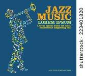 jazz music | Shutterstock .eps vector #223401820