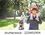 walking family   Shutterstock . vector #223401904