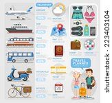 travel planner infographics... | Shutterstock .eps vector #223403104