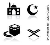 islamic icons | Shutterstock .eps vector #223406098