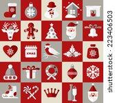 christmas design icons set.... | Shutterstock .eps vector #223406503