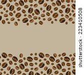 bean border background | Shutterstock .eps vector #223410508