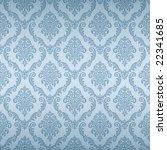seamless damask wallpaper | Shutterstock .eps vector #22341685