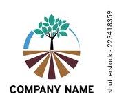 vector sign organic farming ... | Shutterstock .eps vector #223418359