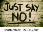Just Say No  Concept