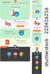 responsive web template | Shutterstock .eps vector #223426216