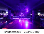 Stock photo colorful interior of bright and beautiful night club 223432489