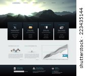 vector website template design...