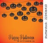 jack o' lantern halloween... | Shutterstock .eps vector #223436410