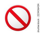 blank prohibited sign with... | Shutterstock .eps vector #223436434