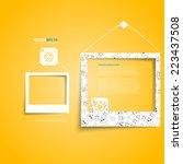 vector white frames on the... | Shutterstock .eps vector #223437508