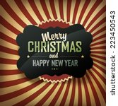 merry christmas card  vector. | Shutterstock .eps vector #223450543