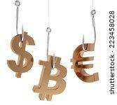 Money Icon On Fish Hooks...
