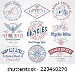 vector bicycle badges and... | Shutterstock .eps vector #223460290