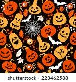 seamless pattern of halloween. | Shutterstock .eps vector #223462588