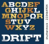 vector slab serif font with... | Shutterstock .eps vector #223464904