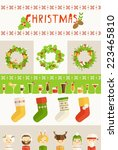 vector colorful christmas card  | Shutterstock .eps vector #223465810