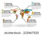 world map infographic vector... | Shutterstock .eps vector #223467520