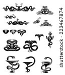 intricate vector black and... | Shutterstock .eps vector #223467874