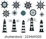 set of marine or nautical... | Shutterstock .eps vector #223469320
