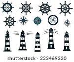 set of marine or nautical... | Shutterstock .eps vector #223469320
