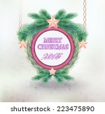 design christmas labels with... | Shutterstock .eps vector #223475890