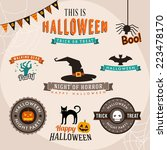 set of halloween party... | Shutterstock .eps vector #223478170