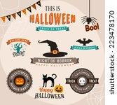 set of halloween party... | Shutterstock .eps vector #223478170