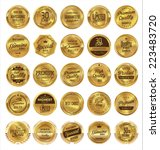 golden labels premium quality... | Shutterstock .eps vector #223483720