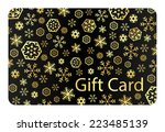 exclusive black christmas gift... | Shutterstock .eps vector #223485139