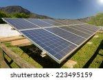 a photo voltaic solar power... | Shutterstock . vector #223495159