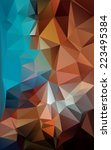 polygonal background | Shutterstock .eps vector #223495384