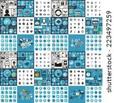 flat concept  set modern design ... | Shutterstock .eps vector #223497259