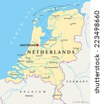 netherlands political map with... | Shutterstock .eps vector #223498660
