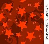 cartoon red stars pattern. the...