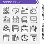 set of thin line office icons. | Shutterstock .eps vector #223500850