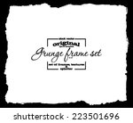 design template.abstract grunge ... | Shutterstock .eps vector #223501696