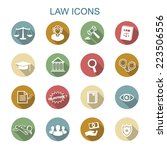 law long shadow icons  flat... | Shutterstock .eps vector #223506556