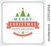 christmas tree typography from... | Shutterstock .eps vector #223513018