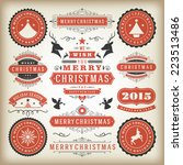 christmas decoration vector... | Shutterstock .eps vector #223513486