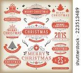 christmas decoration vector... | Shutterstock .eps vector #223513489