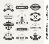 retro vintage insignias or... | Shutterstock .eps vector #223513903