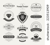 retro vintage insignias or... | Shutterstock .eps vector #223513909
